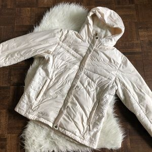 Columbia Large White Down Fill Puffer Ski Coat